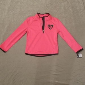 Under Armour Hot Pink zip up Athletic top Size 6